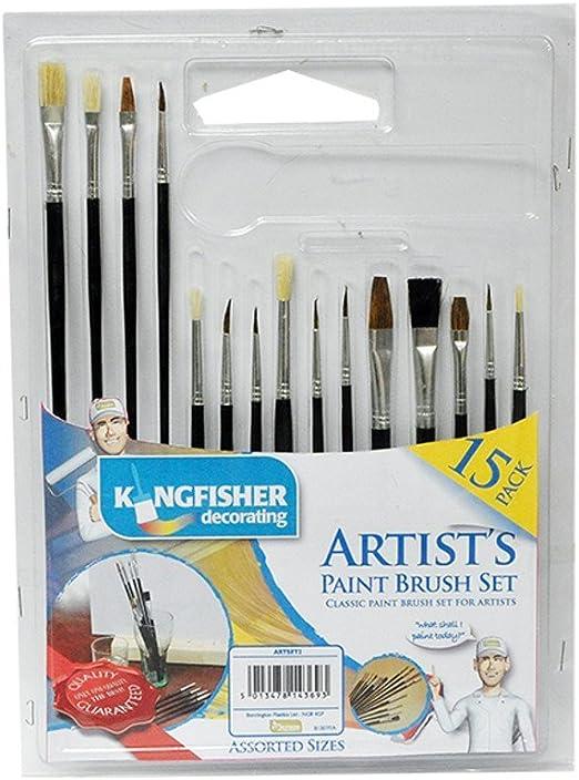 Kingfisher 15 Pack pinceles de pintura de artistas y regalo ...