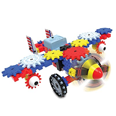 The Learning Journey Techno Gears STEM Construction Set – Aero Trax Plane (60+ pieces) – Award-Winning Learning Toys & Gifts for Boys & Girls Ages 6 Years and Up: Toys & Games