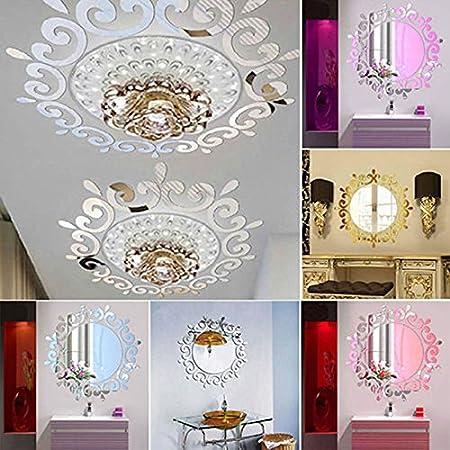 ZREAL 3D Wall Sticker Room Acrylic Decal Art DIY Mirror