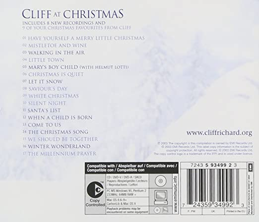 cliff richard cliff at christmas amazoncom music - White Christmas Song List