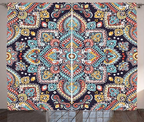 Best window curtain panel: Ambesonne Ethnic Curtains