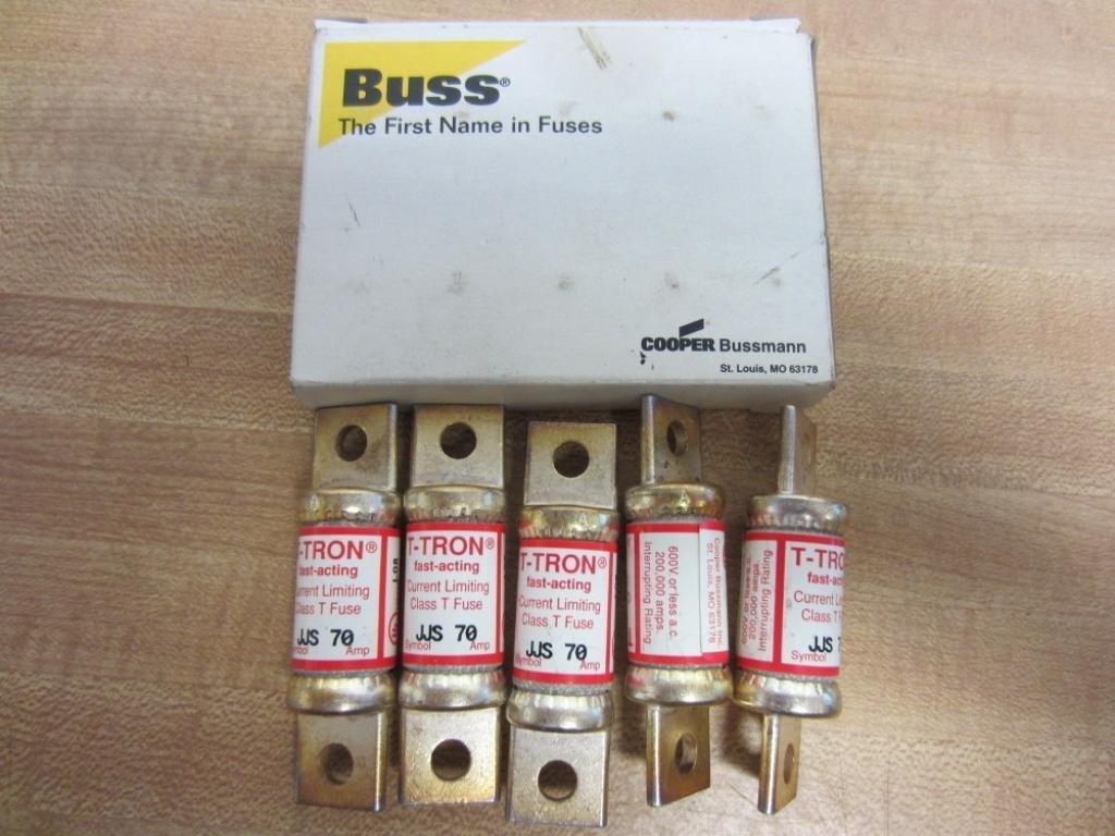 Bussmann JJS-70 Cooper T-Tron JJS70 Fuses 70 Amp Class T (Pack of 5)