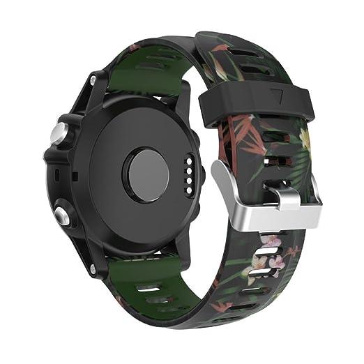 Wokee nuevo colorido moda repuesto Silicagel suave banda correa para Garmin Fenix 5 x GPS reloj