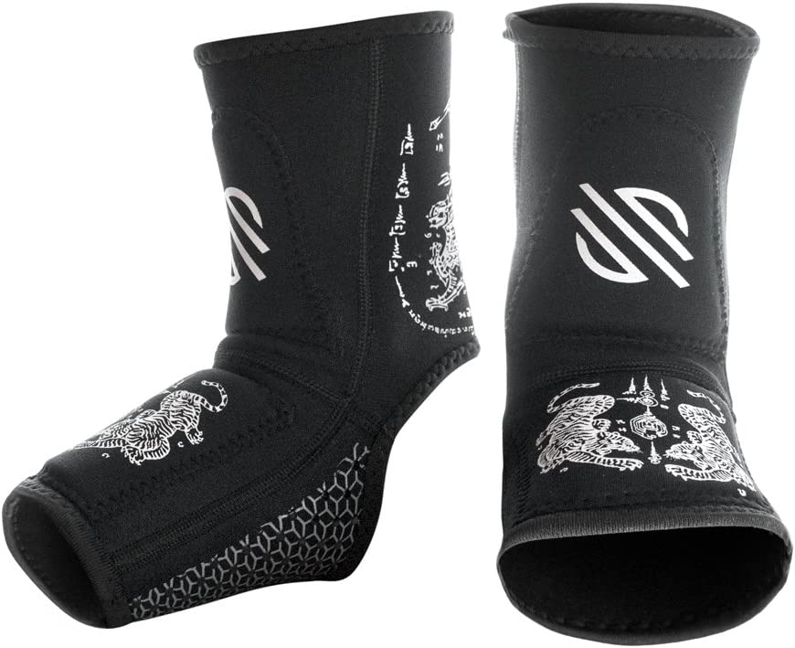 Sanabul Battle Forged Striking Gel Ankle Guard for MMA Muay Thai Kick Boxing (Pair) : Sports & Outdoors