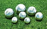 KOVOT 7 Piece Garden Sphere Set - 7 Stainless Steel Gazing Balls Ranging From 2 38 - 4 34