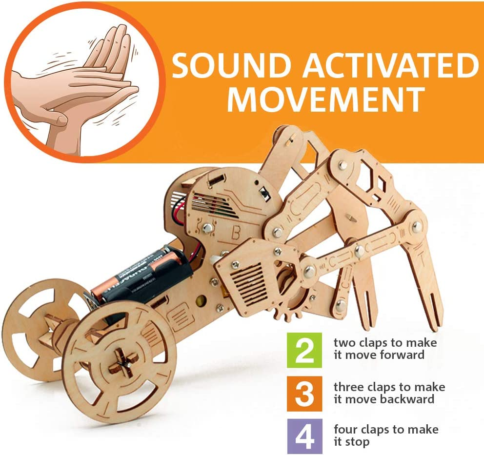 Amazon coupon code for Walking Robot Kit Mechanical Wooden Puzzle