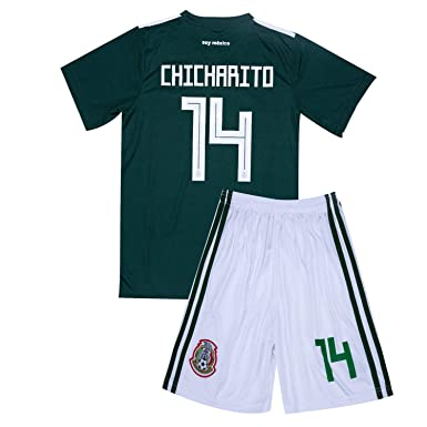 139da6c81d8 Amazon.com  2017-2018 Mexico National Team  14 CHICHARITO Home Youth ...