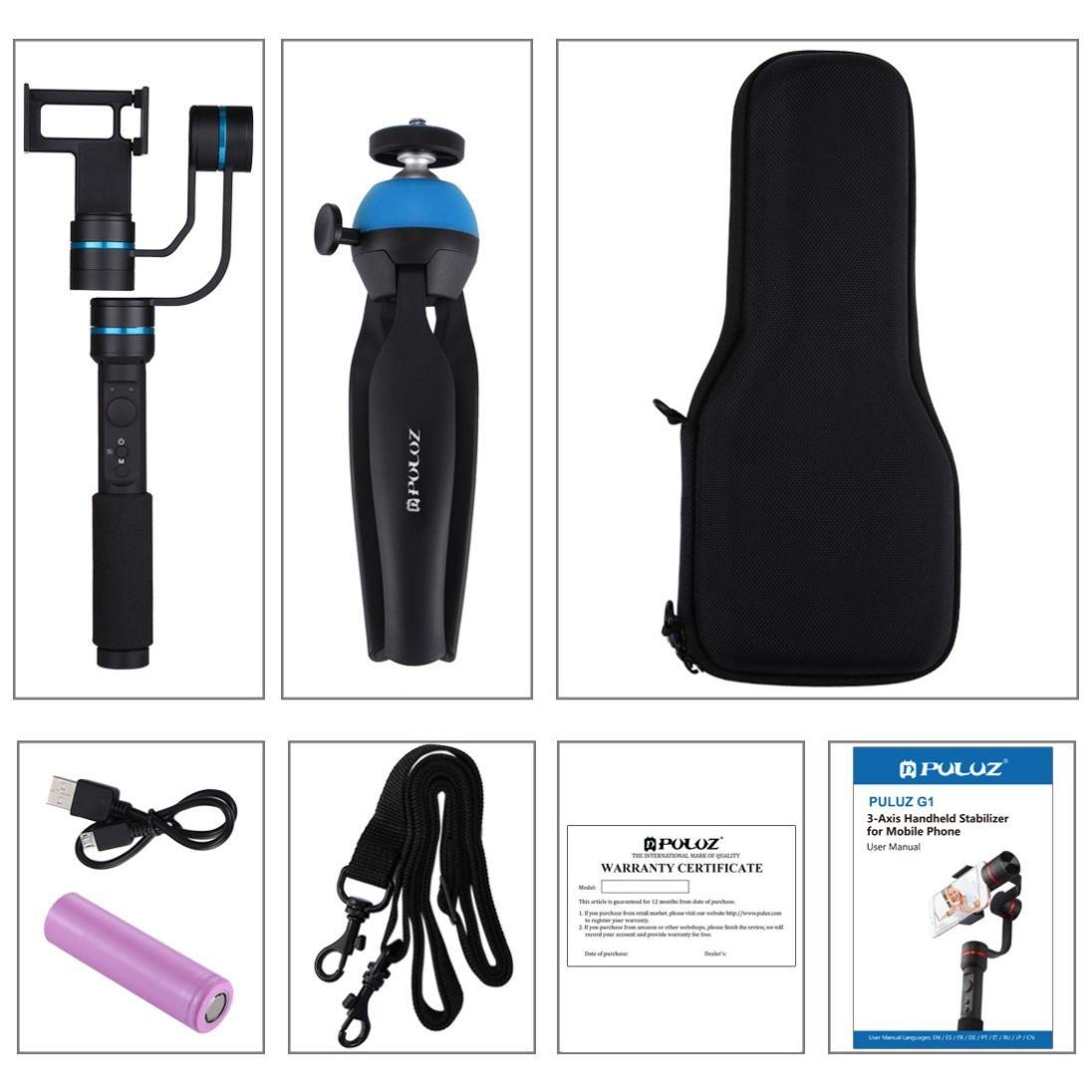 Aobiny Holder Three-axis Hand-held Cradle Head Camera Anti-shake Stabilizer (Black) by Aobiny (Image #2)