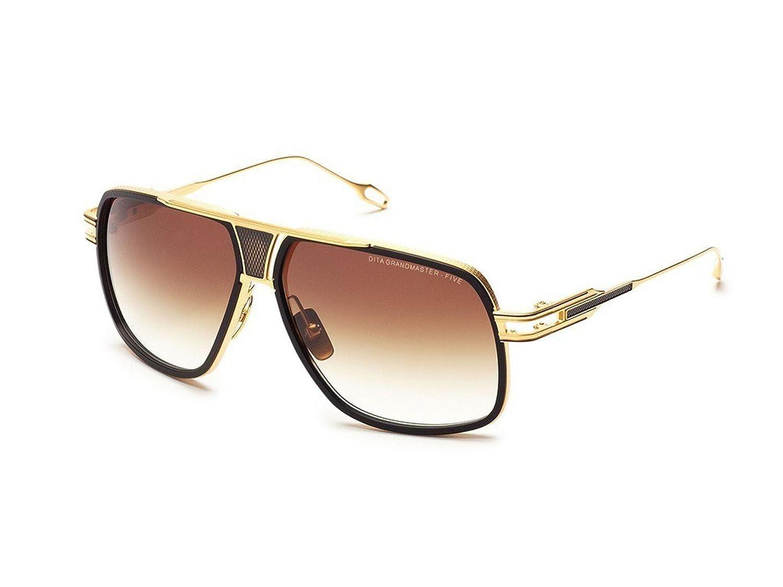 5e1d0f612c88 Sunglasses Dita GRANDMASTER FIVE DRX 2077 A-GLD-BLK 18K Gold-Matte Black w D.  B  Amazon.co.uk  Clothing