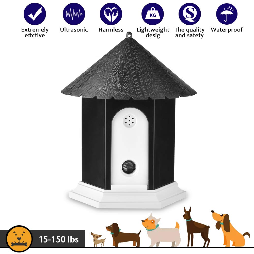 CAPKIT Dog Barking Control Devices,Ultrasonic Dog Bark Deterrent, Waterproof Indoor/Outdoor Anti Barking Device Stop Bark Device Safe for Small Medium Large Dogs by CAPKIT