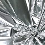 Colored Mylar Film Roll 50 Ft Long - 30'' wide - 125 Sq ft (Shiny Silver)