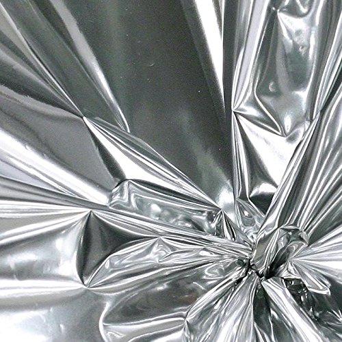 Colored Mylar Film Roll 50 Ft Long - 30'' wide - 125 Sq ft (Shiny Silver) by Adornments Shoppe