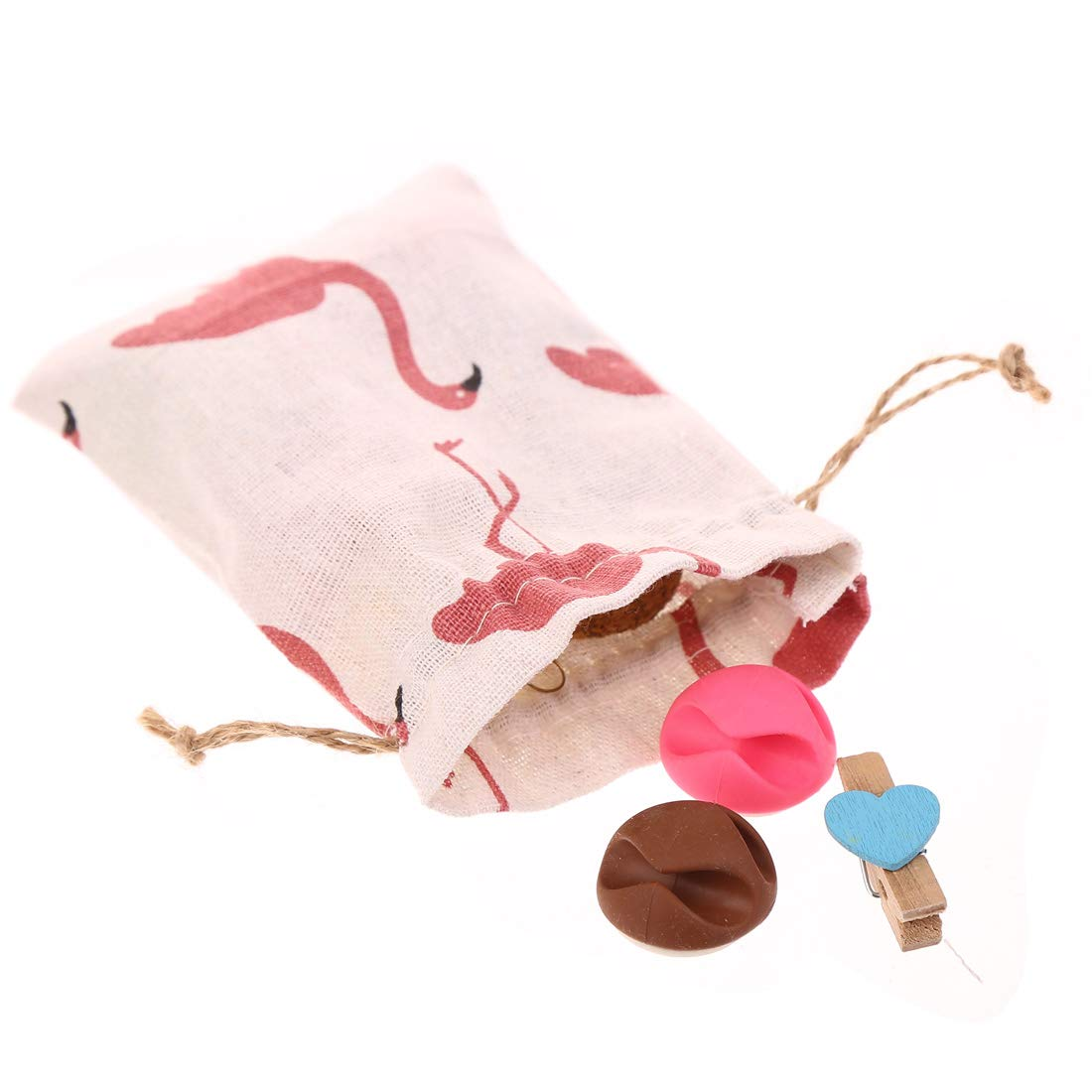 Burlap Bags with Jute Drawstring 50 PCS Jewelry Mini Gifts Flamingo Pouches for Gifts Wedding Favors,Party,DIY Craft and Christmas by CCINEE