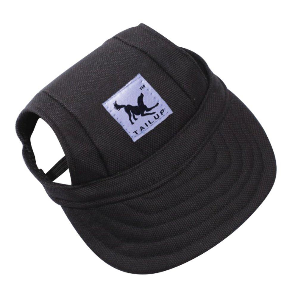 fec02f0b8f2 Amazon.com   Adarl Pet Baseball Cap Dogs Sport Hat Dog Visor Cap With Ear  Holes For Puppy Pet Dog Cat Black M   Pet Supplies