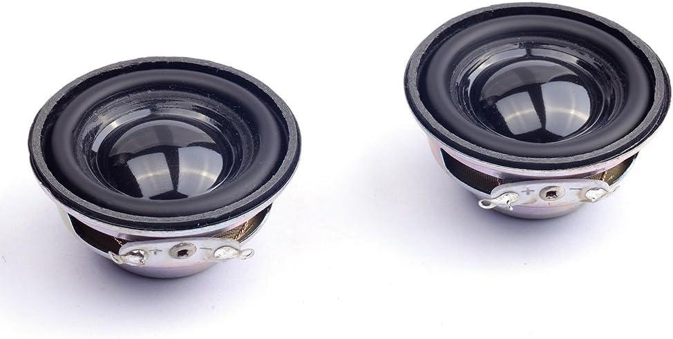 Stereo Woofer Lautsprecher f/ür Arduino 6 St/ück HSEAMALL 3,8 cm 4 Ohm 3 W Full Range Audio Lautsprecher
