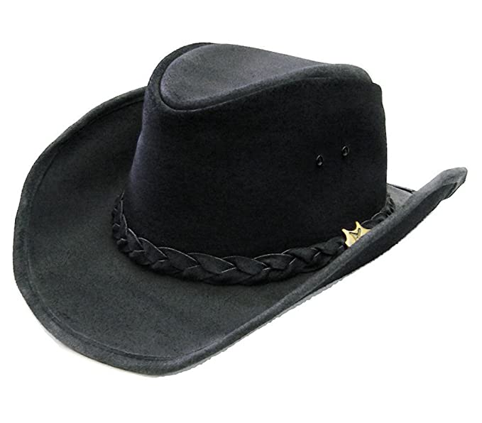 Modestone BC Hat Drover Soft Australian Leather Cowboy Hat   for Small Heads    1bb8f959f