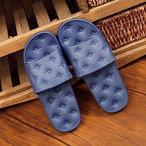 Da Vasca Blu Bagno Interno Morbide Fondo Shoe Pantofole Morbido Scuro Bagno Qsy Casa Antiscivolo Z0n4t7np