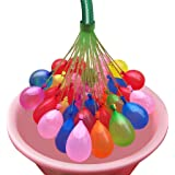 Ascension ® Pack of 3 (37 Ballons Each) 60 Seconds Fill & Automatic Tie Multi Colored Magic Bunch of Water Balloons No More Struggle Or Hassle - Great Festival and Outdoor Water Sports Fun