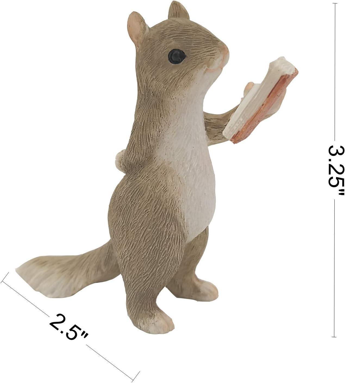 Brave Squirrel Statue Gemmia Garden Squirrel Figurine