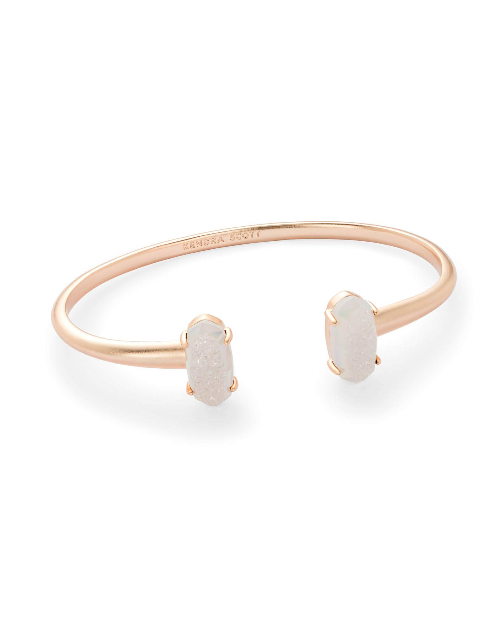 Kendra Scott Edie Cuff Bracelet (Rose Gold and Iridescent Drusy)