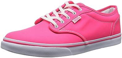 Vans W ATWOOD LOW VNJO6AQ Damen Sneaker Pink ((Neon) pink whi) 34.5 ... 2641b4664363