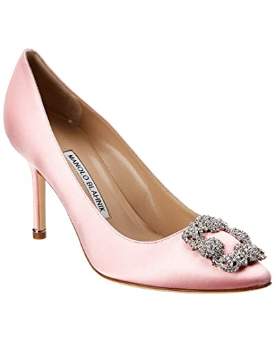3c945a78d11 Image Unavailable. Image not available for. Color  Manolo Blahnik Hangisi  90 Satin Pump ...