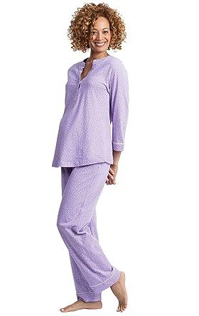05ce267c3ccb6 PajamaGram Women's Nursing Pajamas Soft - Maternity Sleepwear, Purple, XS,  ...
