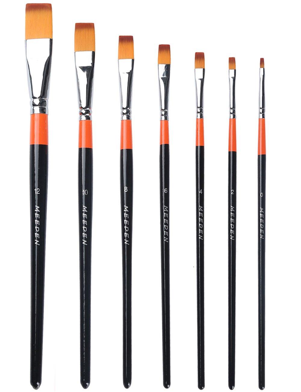 Meeden angolare/piatto pennelli set, Chrome, Angular