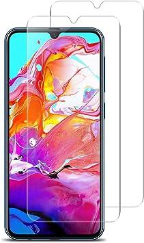 VICKSONGS Cristal Templado para Samsung Galaxy A70, [2.5D/9H Dureza] [Alta Definición] [Sin Burbujas] para Galaxy A70 Protector de Pantalla, Vidrio Templado para Samsung A70: Amazon.es: Electrónica