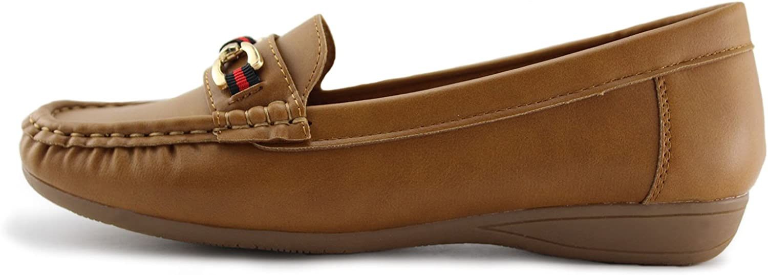 JABASIC Womens Slip-on Loafers Flat Casual Driving Shoes