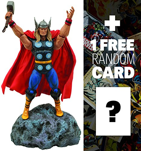 "Classic Thor: ~7"" Marvel Select x Diamond Select Action Figure + 1 FREE Official Marvel Trading Card Bundle"