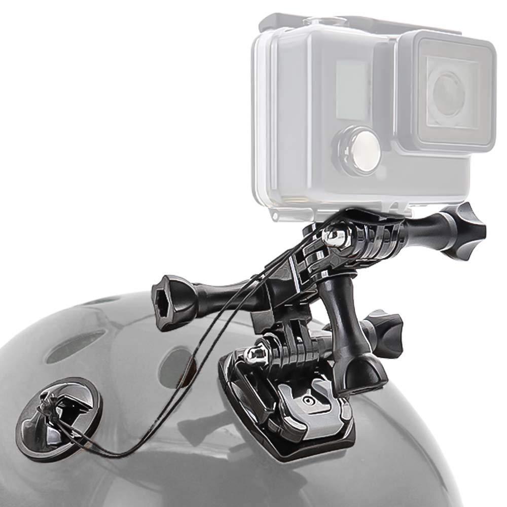 woleyi Support de Casque de Moto pour GoPro Hero Moto pivotant 3 Directions pivotantes avec Attaches d/'Assurance pour GoPro Hero 2018 7 6 5 4 3 3 SJCAM SJ7000 SJ5000 et Autres cam/éras daction