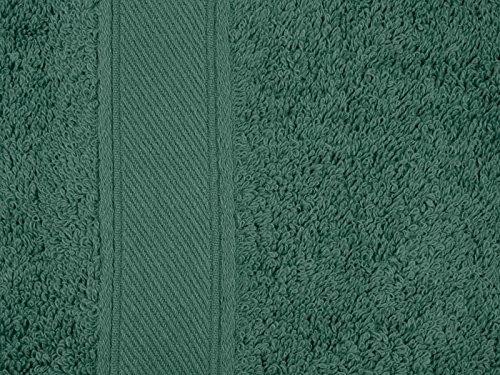 REVITEX - Toalla Rizo Estela Verde Pino - Sábana 100x150 cm - 100% Algodón - Gramaje 500g/m²: Amazon.es: Hogar