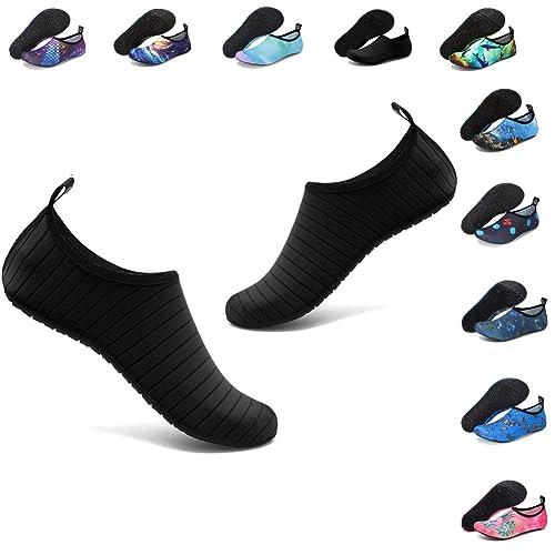 fcfde43a84 Deevike Water Shoes Womens Mens Beach Pool Shoes Quick-Dry Barefoot Aqua  Yoga Socks for