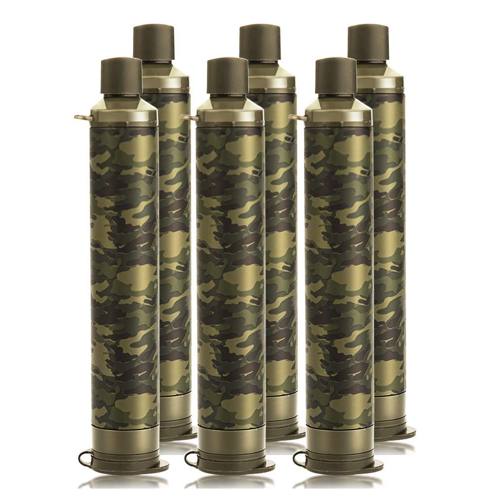 Membrane Solutions Straw Water Filter Survival Filtration Portable Gear Emergency Preparedness Supply for Drinking Hiking Camping Travel Hunting Fishing by Membrane Solutions