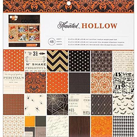 American Crafts Haunted Hollow 12x12 Halloween Scrapbook Paper Pad