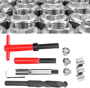 Oumefar 11pcs M16x1.5 Stainless Steel Twisted Drill Wrench Tap Insertion Tool Thread Repair Kit