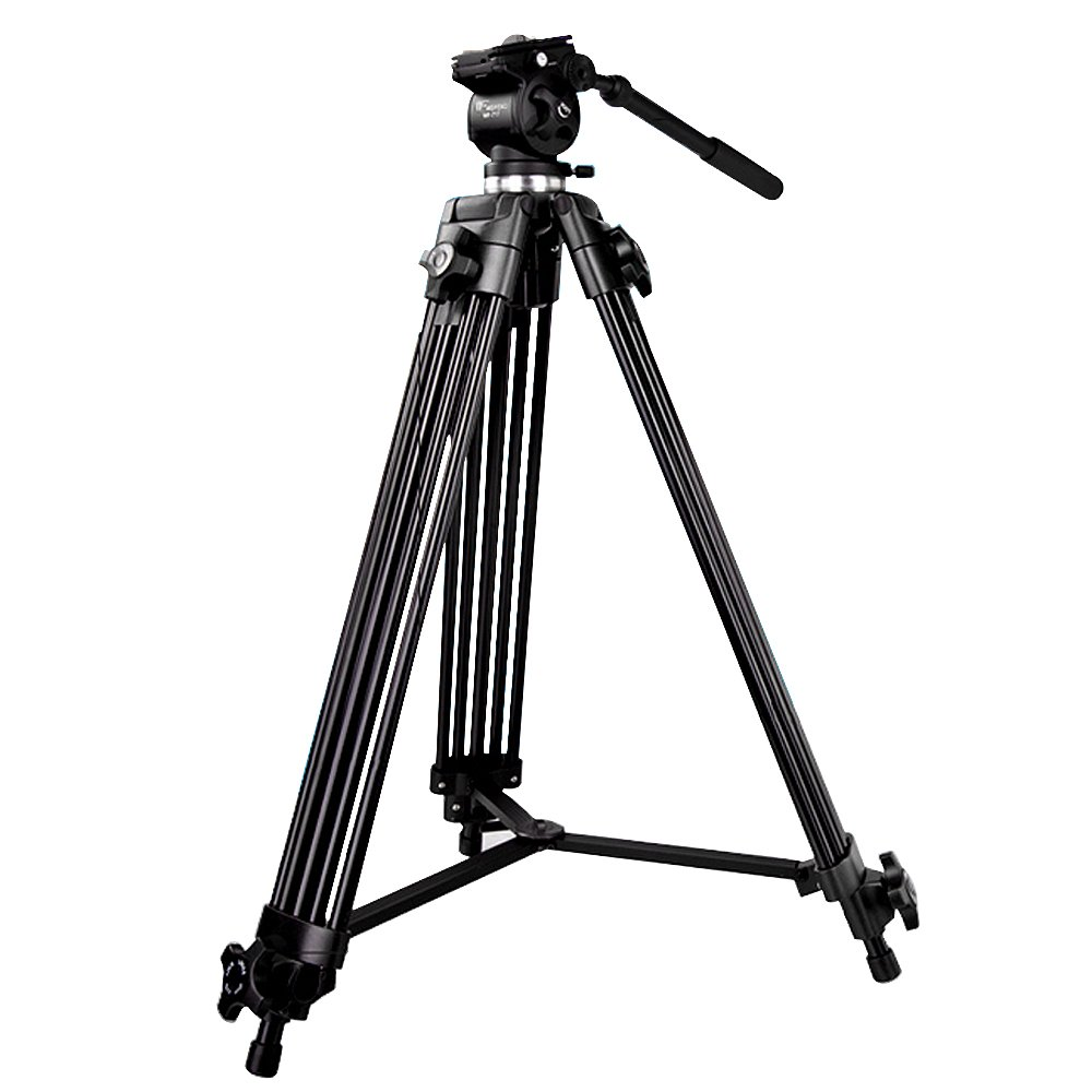 SUPON Weifeng WF-717 180cm /70.87 inch Professional Heavy Duty Video Camcorder Tripod with Fluid Drag Head +SUPON USB LED Free Gift (WF-717) by SUPON