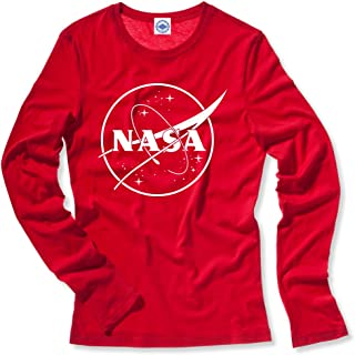product image for Hank Player U.S.A. NASA 1 Color Logo Women's Long Sleeve T-Shirt