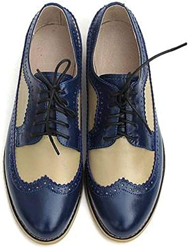 Blue leather shoes Leather Oxford Shoes Suede Oxfords Blue Colorful Print Shoes Women Oxfords Women Leather shoes