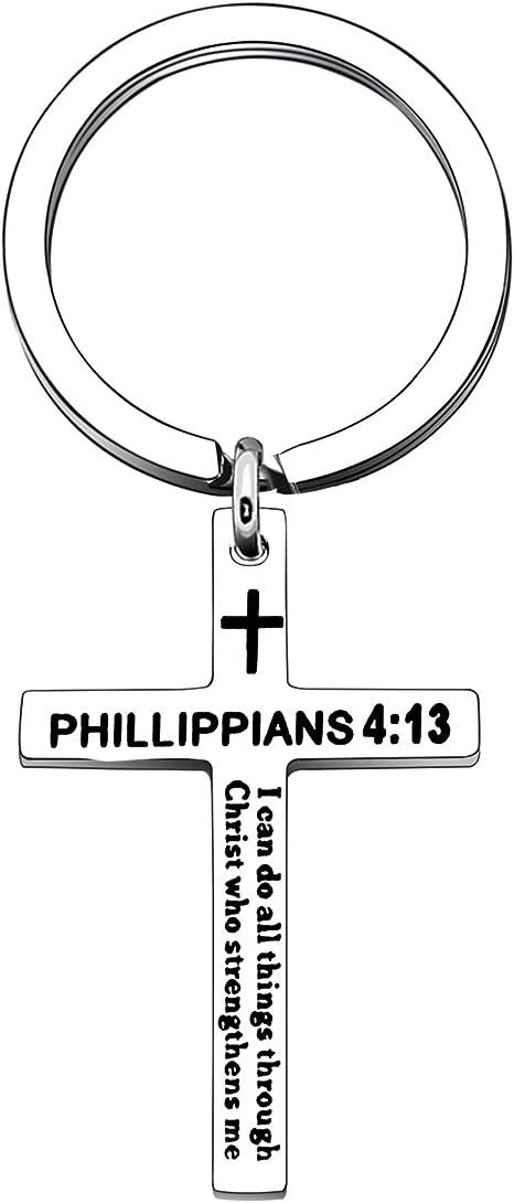 10pcs//lot Je peux faire toutes choses par le Christ qui renforce me Pendentif 20 mm
