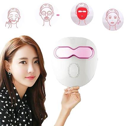 Luz De Color Piel Acné Hidratante Vibración De Micro Frecuencia Medidor De Mascarilla Máquina De Máscara