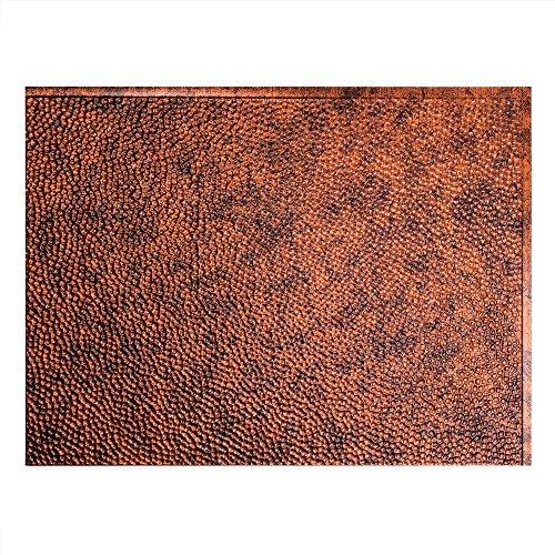Fasade Easy Installation Hammered Moonstone Copper Backsplash Panel for Kitchen and Bathrooms (18