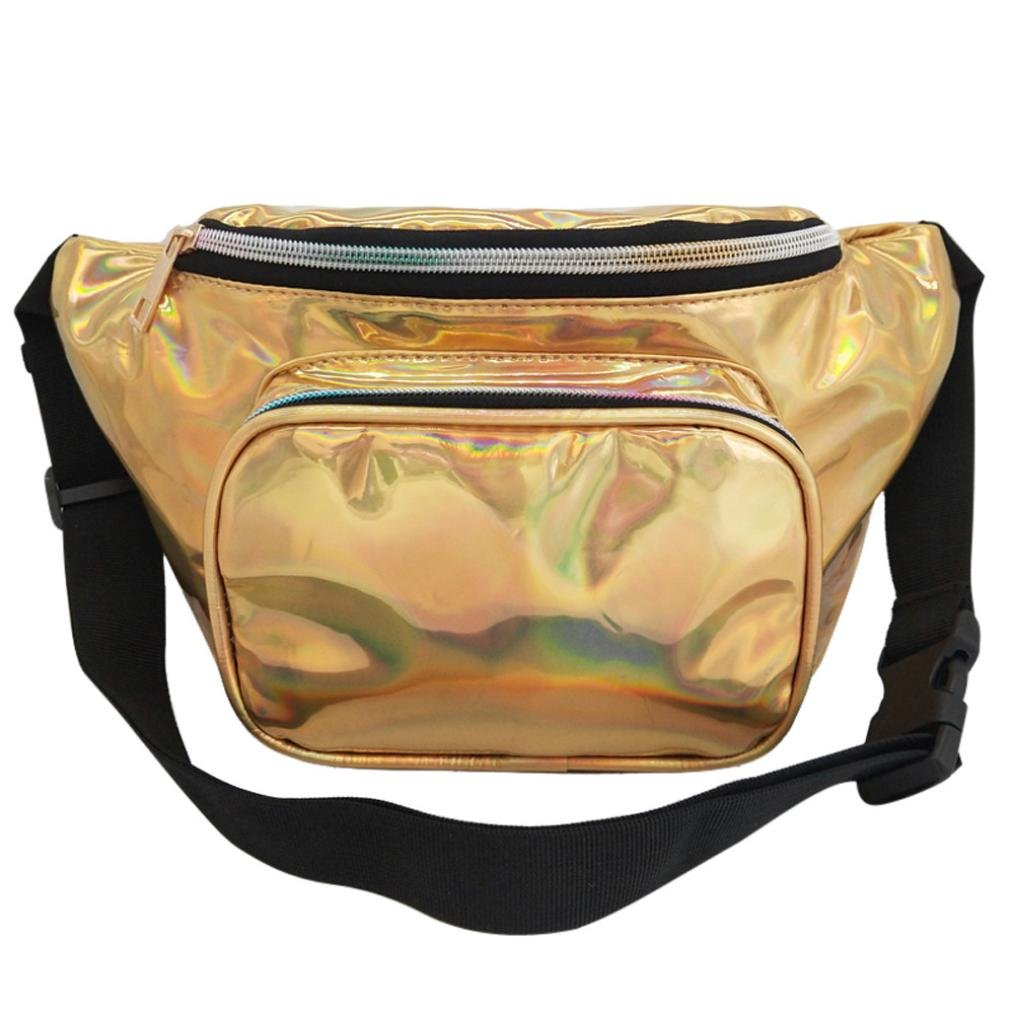 Inkach Waist Pack Bags - Fashion Womens Waterproof Leather Fanny Packs Outdoor Messenger Shoulder Chest Bag