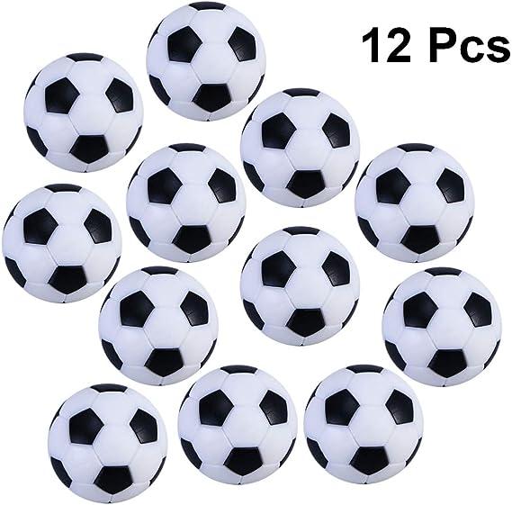BESPORTBLE 12pcs / Bag balones de fútbol de Mesa balones de Juguete de fútbol en Blanco y Negro balones de fútbol balones de Repuesto Accesorio de Pelota de Juego de fútbol de