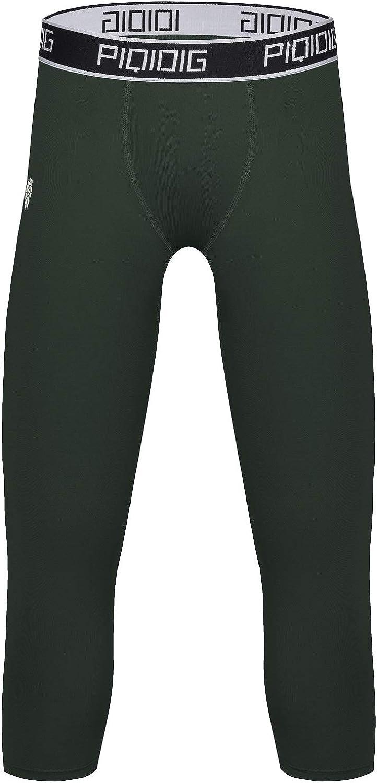 Amazon Com Piqidig Youth Boys Compression Pants 3 4 Basketball Tights Sports Capris Leggings Clothing
