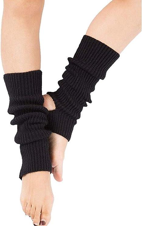 Vintage Style Socks- Knee High, Bobby, Anklet Yoga Socks Non Slip Women Leg Warmers 80s for Pilates/Ballet/Dance/Training/Workout/Sports Leg Warmers Women Girls $8.99 AT vintagedancer.com