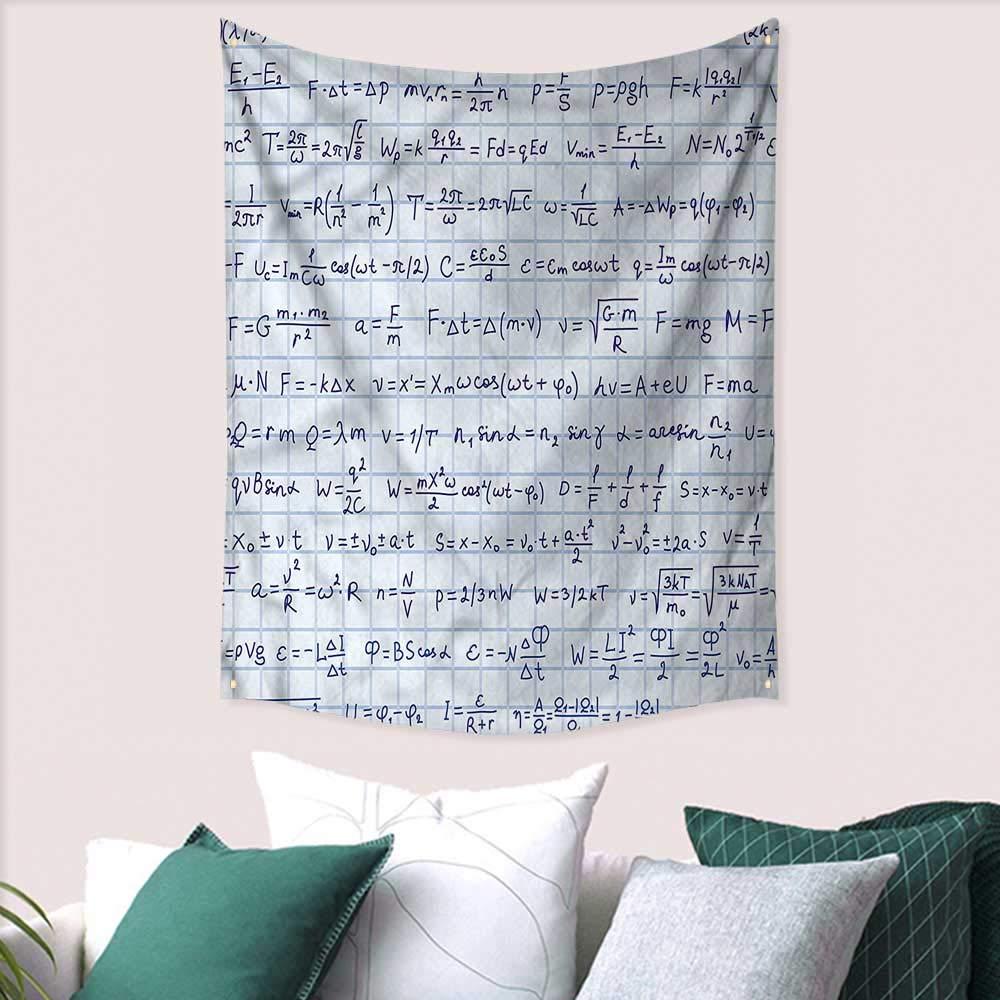Amazon.com: sunsunshine Blue Wall Art Tapestry Maths Physics ...