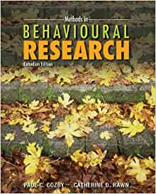 methods in behavioural research cozby pdf