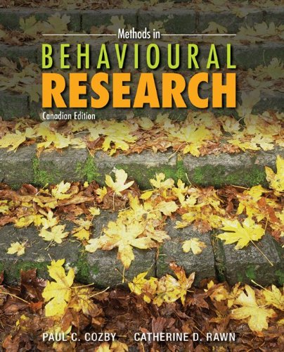 Methods in Behavioural Research